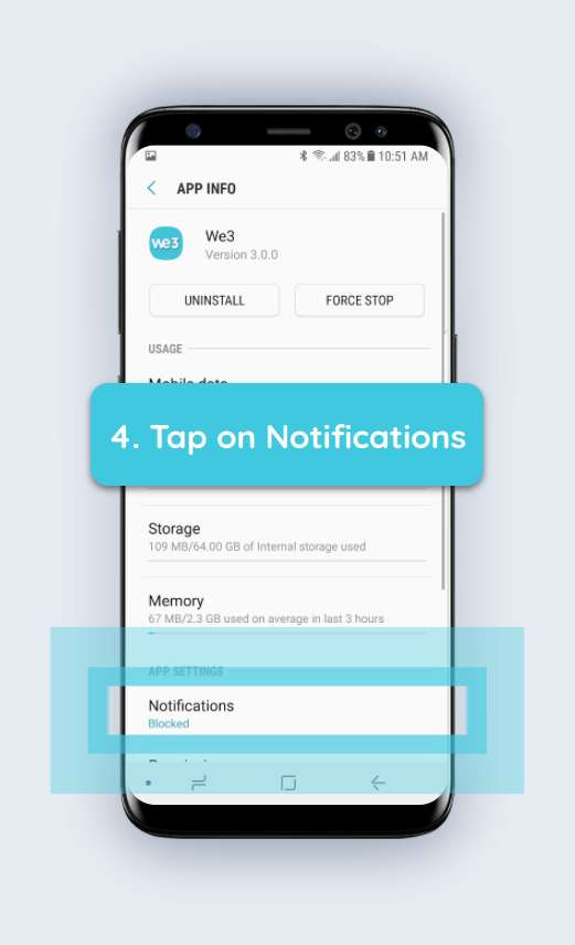 How to enable push notifications android step 4