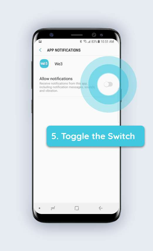 How to enable push notifications android step 5
