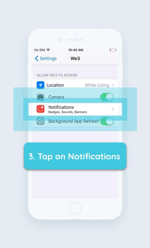 How to enable push notifications iPhone step 3