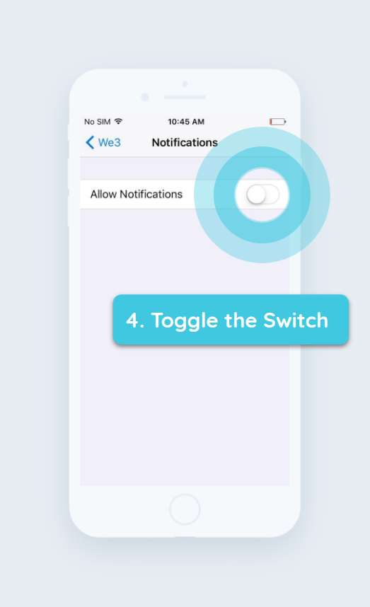 How to enable push notifications iPhone step 4